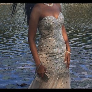 Silver Glamour by Terani Couture Prom Dress